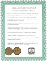 Institute of Inspection Cleaning and Restoration Certificate Customer Commitment