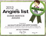 AAA Quality Air Duct & Carpet Cleaning Angies List 2012